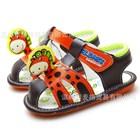 รองเท้ารัดส้นไดโนเสาร์น้อย-สีน้ำตาล-(5-คู่/แพ็ค)