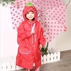 เสื้อกันฝนสตอเบอรี่สีแดง-(5-ตัว/pack)