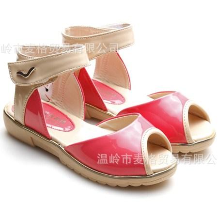 รองเท้ารัดส้นวินเทจ สีแดง 32-37 (6คู่/แพ็ค)