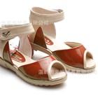 รองเท้ารัดส้นวินเทจ-สีแดงอิฐ-32-37-(6คู่/แพ็ค)