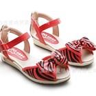 รองเท้ารัดส้นลายม้าลาย-สีแดง-32-37-(6คู่/แพ็ค)