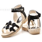 รองเท้ารัดส้นแถบโบว์คู่-สีดำ-27-31-(5คู่/แพ็ค)