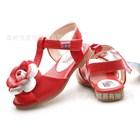 รองเท้ารัดส้นดอกไม้ใหญ่-สีแดง-(5คู่/แพ็ค)