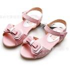 รองเท้ารัดส้นโบว์วินเทจ-สีชมพู-(5คู่/แพ็ค)