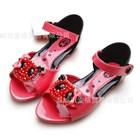รองเท้ารัดส้นหมีคริสตอล-สีแดง-(5คู่/แพ็ค)