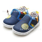 รองเท้าผ้าใบลายจุด-สีน้ำเงิน-(6คู่/แพ็ค)