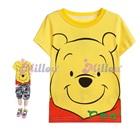 เสื้อยืดแขนสั้นหมีพูลล์สีเหลือง-(6size/pack)