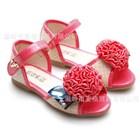 รองเท้าคุณหนูโบว์ติดเพชร-สีชมพู-(5คู่/แพ็ค)