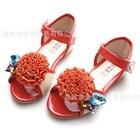 รองเท้าคุณหนูโบว์ติดเพชร-สีส้ม-(5คู่/แพ็ค)