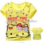เสื้อแขนสั้น-Kitty-Good-Time-สีเหลือง-(5size/pack)
