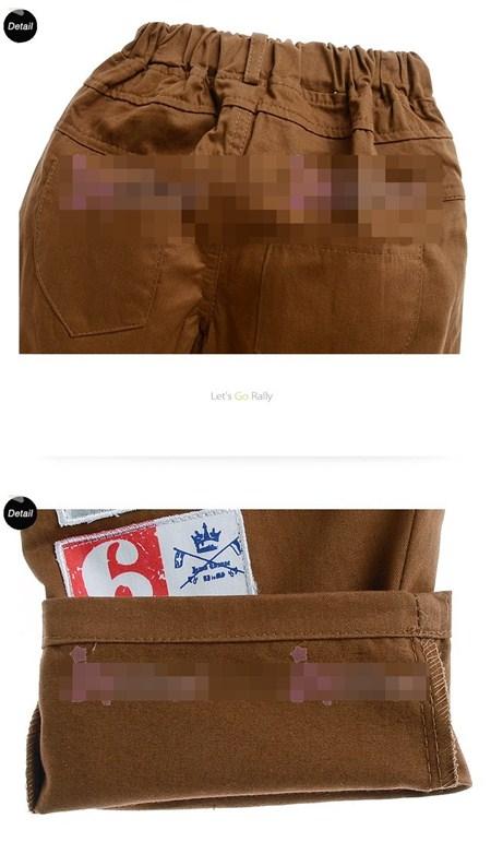 กางเกงขายาวพันธมิตร สีน้ำตาล (5size/pack)