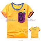 เสื้อแขนสั้นเด็กเนิร์ด-สีเหลือง-(5size/pack)