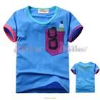 เสื้อแขนสั้นเด็กเนิร์ด-สีฟ้า-(5size/pack)