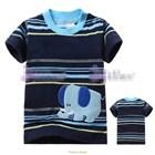 เสื้อแขนสั้นช้างอ้วน-สีน้ำเงิน-(6size/pack)