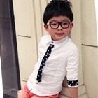 เสื้อแขนยาวเกาหลีลายจุด-สีขาว-(5-ตัว/pack)