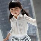 เสื้อเชิ้ตแขนยาวสไตล์เกาหลี-สีขาว-(5-ตัว/pack)