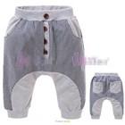 กางเกงขายาวกระดุมเรียง-สีเทาเขียว-(5size/pack)