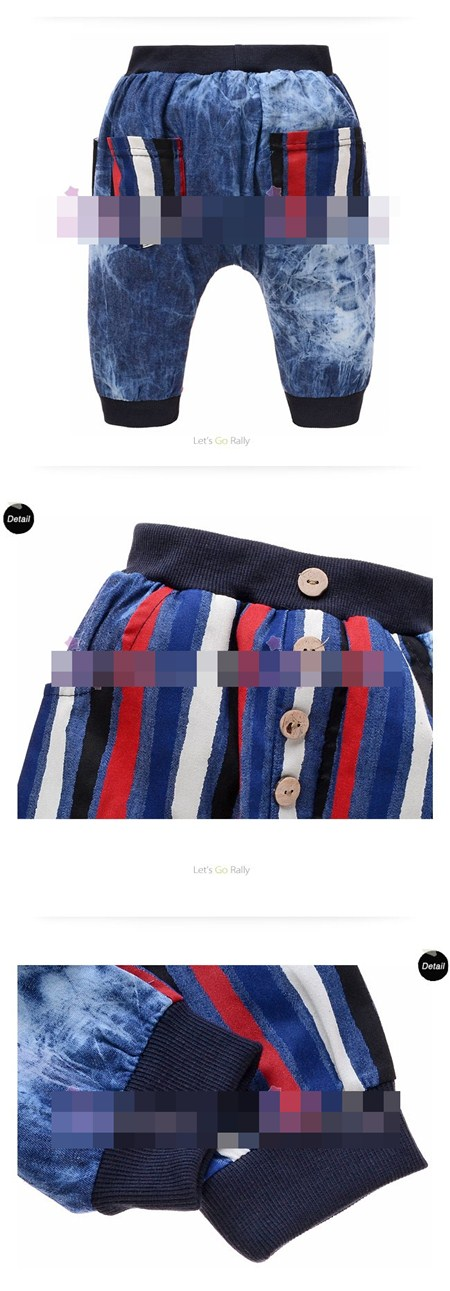 กางเกงยีนส์ขายาวเล่นสี (5size/pack)