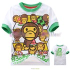 เสื้อแขนสั้นลิงแตงโม-(6size/pack)