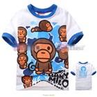 เสื้อแขนสั้นลิงโมโลจอมมึน-(6size/pack)