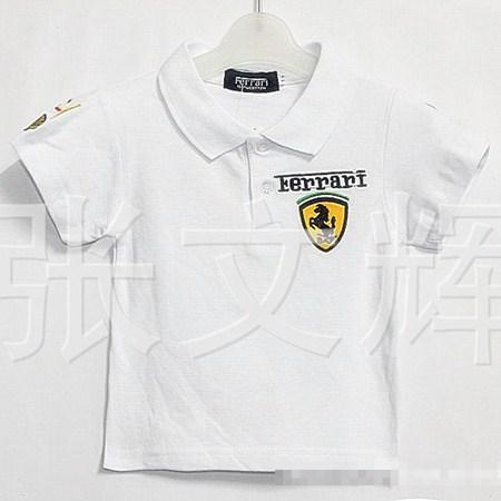 เสื้อโปโล FERRARI สีขาว (5 ตัว/pack)