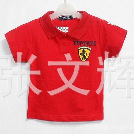 เสื้อโปโล FERRARI สีแดง (5 ตัว/pack)