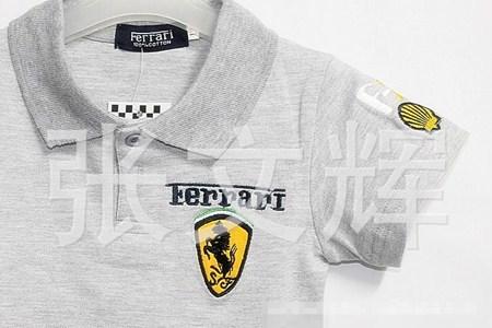 เสื้อโปโล FERRARI สีเทา (5 ตัว/pack)