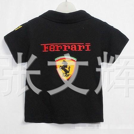 เสื้อโปโล FERRARI สีดำ (5 ตัว/pack)