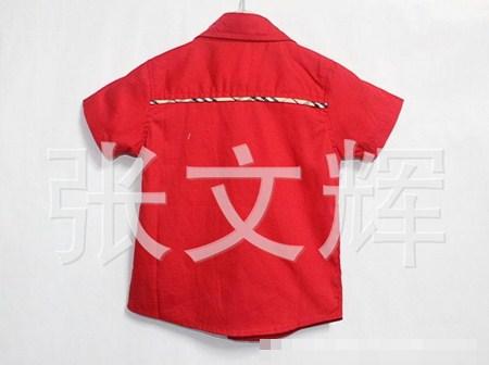 เสื้อเชิ้ต Burberry หนุ่มนอก สีแดง (5 ตัว/pack)