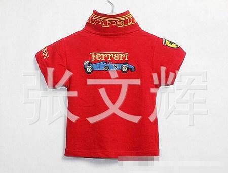 เสื้อโปโล FERRARI Staff สีแดง (5 ตัว/pack)