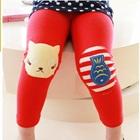 กางเกงเลกกิ้งแมวเหมียวน่ารัก-สีแดง-(5size/pack)