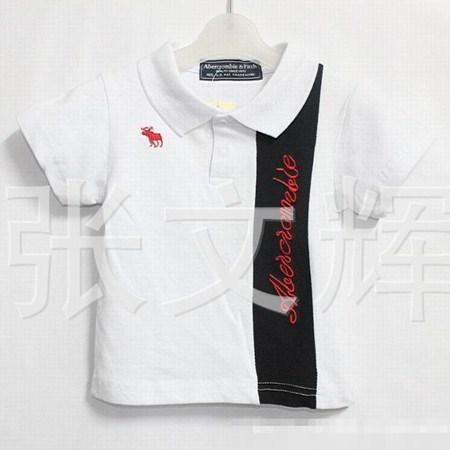 เสื้อโปโล Abercrambre สีขาว (5 ตัว/pack)