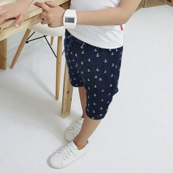 กางเกงขาสามส่วนลายสมอเรือ สีกรมท่า (5 ตัว/pack)