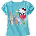 เสื้อยืดแขนสั้น-Hello-Kitty-Love-สีฟ้า(5-ตัว/pack)
