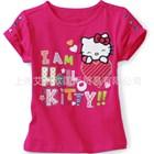 เสื้อยืดแขนสั้น-Hello-Kitty-Love-สีชมพู(5ตัว/pack)