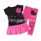 ชุดเดรสกางเกง-Kitty-หน้าใหญ่-สีดำ-(5-ตัว/pack)