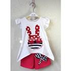 ชุดเสื้อกางเกง-Rabbit-ลายจุด-สีแดง--(5-ตัว/pack)
