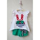 ชุดเสื้อกางเกง-Rabbit-ลายจุด-สีเขียว--(5-ตัว/pack)