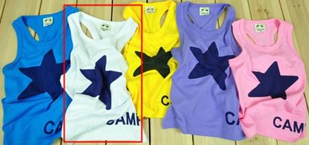 เสื้อกล้าม STAR CAMP สีขาว (5size/pack)