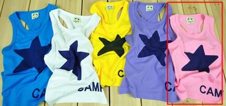 เสื้อกล้าม STAR CAMP สีชมพู (5size/pack)