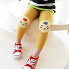 กางเกงเลกกิ้งแมวเหมียวน่ารัก-สีเหลือง-(5size/pack)