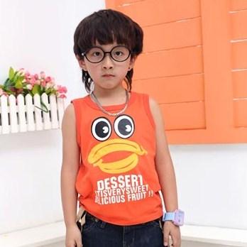 เสื้อกล้าม DESSERT สีส้ม (5size/pack)