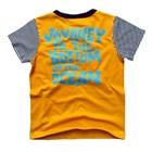 เสื้อแขนสั้นผจญภัยในมหาสมุทร-สีเหลือง-(5size/pack)