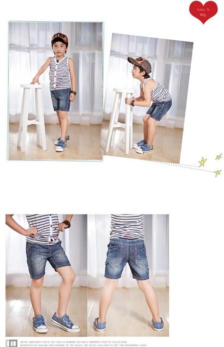 กางเกงยีนส์ฟอกสีเซอร์ สีเข้ม (4size/pack)