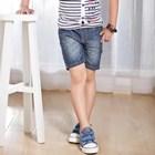 กางเกงยีนส์ฟอกสีเซอร์-สีเข้ม-(4size/pack)