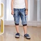 กางเกงยีนส์สามส่วนฟอกสี-(5size/pack)