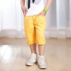 กางเกงสามส่วนจี๊ดจ๊าด-สีเหลือง-(5size/pack)