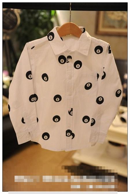 เสื้อเชิ้ตลูกสนุ๊กเบอร์ 8 สีขาว (5ตัว/pack)