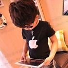 เสื้อแขนสั้น-Apple-สีดำ-(5ตัว/pack)