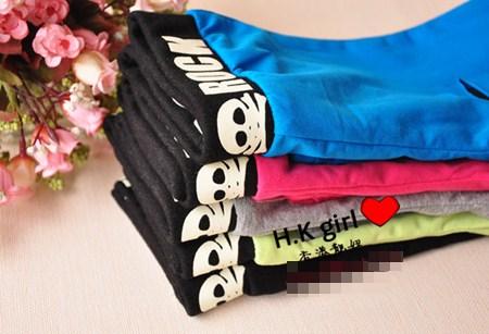 กางเกงเลกกิ้งลายริ้ว คละสี (5 ตัว /pack)